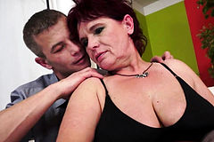 Chubby Redhead grandma Pounded after oral