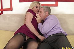 Sultry Mature Hookup With large hooters Grannie Cala craves