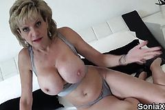 Unfaithful Uk milf Lady Sonia Flaunts her oversized Naturals