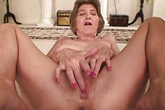Old Bi-atch Thumbs Her banging older Beaver