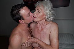 FULL! Norma Hotwife on her Granddad in the next bedroom