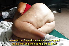 Large Phat booty Plumper Granny caught bare during sleep! Must See!