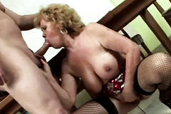 Naughty GRANNY Goes DIRTY SUCKING and FUCKING with KINKY