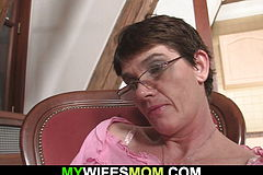 He penetrates Wild mother-in-law From Behind