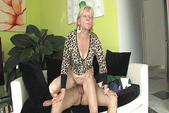 Shameless grannie ravages with stepson