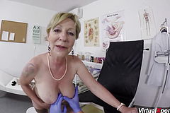 Thick Jug Furry 79 Years older mommy boned By Her doc