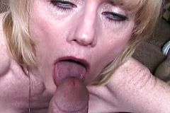 Stunt Cock Shoots A Sticky Load Into Melanies Mouth