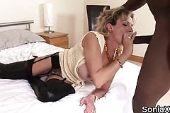 Adulterous British Mature gill Ellis Pops Out her big Tits