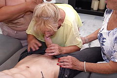 Grannies having group Sex with Teen Boy