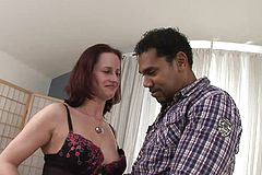 Interracial Fucky-fucky for a promiscuous Mature red-haired