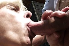 Horny dude fucks Old mature in the Changing room