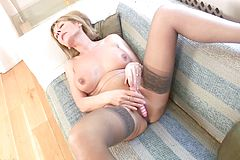 Mature Blond Likes to have fun With Herself