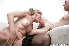 Flirting Senior Slut gives oral Sensation to Her aroused guy