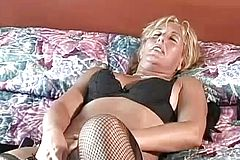 Trendy mature cowgirl jerking then Providing Her naughty Boy good suck off