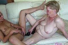 German Granny Plays with her fresh fucktoy