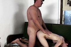 Mature dude ravages a dark-haired nubile