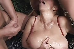 Huge Breasted Granny Has Two Horny boys Satisfying Her sexual Desires