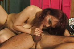 Irresistible Redhead cougar Gets Her hairy Beaver Pounded To Pleasure