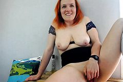 Redhead mature Babe with Big Boobs Fucking