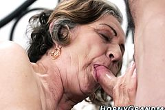 Cum Dumped grandma sucks