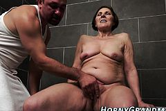 Showering cougar Facial