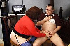 French BBW granny Olga blowjobs