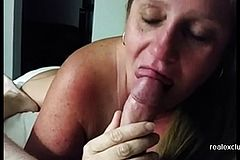 My Wife facialized After rim and Blowjob