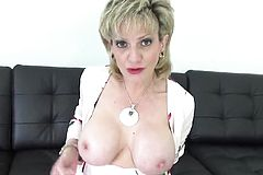 Cheating english milf Lady Sonia Shows off Her big boobies17