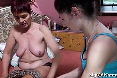 Granny And Teen Lesbian Action