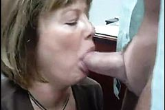 Mature blonde Wife Nice amateur blowjob