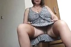 Granny With big Boobs masturbating hairy Granny Pussy