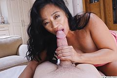 Stepmoms Hungry Mouth slobber shaft up and Down