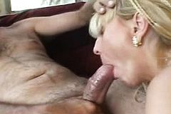 Blonde mature Slut With hairy Pussy enjoys a Big black cock