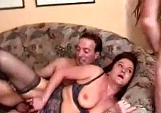 Mature Brunette cuckold wife Has Gangbang