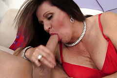Mature Leylani Wood Takes on a Long Dick