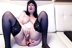 Horniest Amateur Mature BBW squirting a lot On Webcam